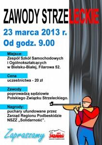 Plakat zawody strzeleckie
