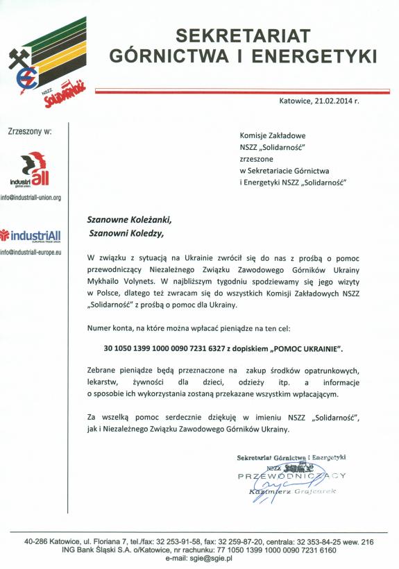 Pomoc Ukrainie