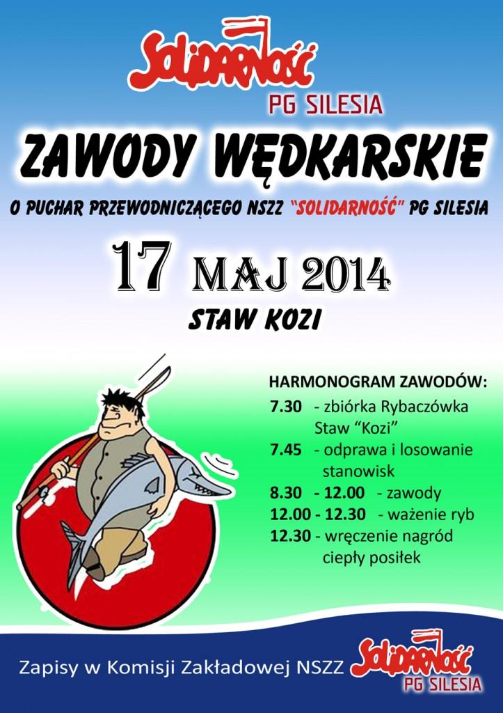 plakat zawody wędkarskie